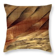 Crimson And Gold Throw Pillow by Mike  Dawson