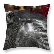 Crimson Tide For Christmas Throw Pillow by Kathy Clark