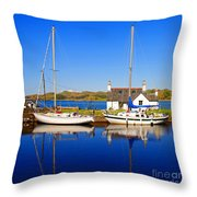 Crinan Canal Throw Pillow by Craig B