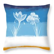 Crocus Flower Throw Pillow by Aged Pixel