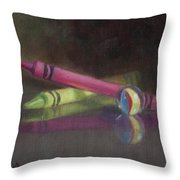 Crossing Over Throw Pillow by Debbie Lamey-MacDonald