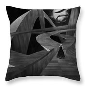 Crossroad Throw Pillow by Jack Zulli