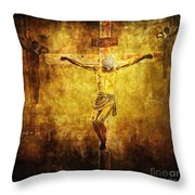 Crucified Via Dolorosa 12 Throw Pillow by Lianne Schneider