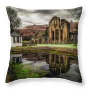 Crucis Abbey Throw Pillow by Adrian Evans