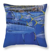 Crystal Blue Off00100 Throw Pillow by Carey Chen