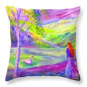 Crystal Pond Throw Pillow by Jane Small