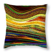 Crystal Waves Abstract 1 Throw Pillow by Carol Groenen