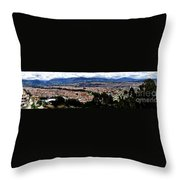 Cuenca And Turi Panorama Throw Pillow by Al Bourassa
