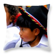 Cuenca Kids 214 Throw Pillow by Al Bourassa