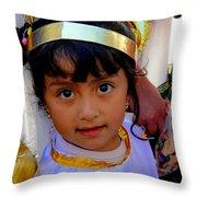 Cuenca Kids 246 Throw Pillow by Al Bourassa