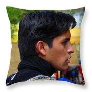Cultural Blend Throw Pillow by Lew Davis