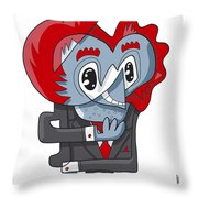 Cunning Businessman Doodle Character Throw Pillow by Frank Ramspott