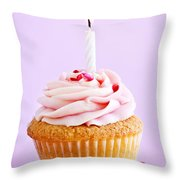 Cupcake Throw Pillow by Elena Elisseeva