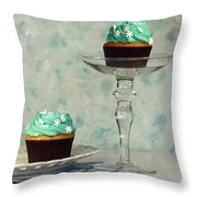 Cupcake Frenzy Throw Pillow by Inspired Nature Photography Fine Art Photography