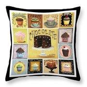 Cupcake Mosaic Throw Pillow by Catherine Holman