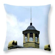 Cupola Chimneys Charleston Throw Pillow by Randall Weidner