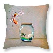 Curiosity Throw Pillow by Cindy Thornton