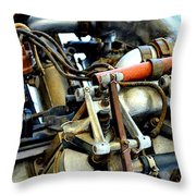 Curtiss Ox-5 Airplane Engine Throw Pillow by Michelle Calkins