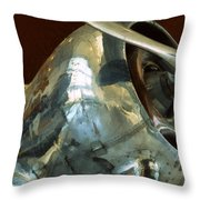 Curtiss-Wright CW-22 Monoplane Throw Pillow by Michelle Calkins