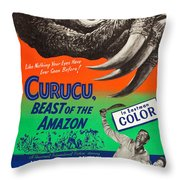 Curucu Beast Of The Amazon Throw Pillow by MMG Archives