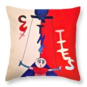 Cut The Ties Throw Pillow by Jessica Sanders