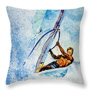 Cutting The Surf Throw Pillow by Hanne Lore Koehler