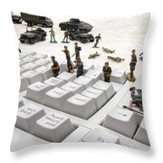 Cyber Attack Throw Pillow by Olivier Le Queinec
