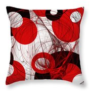 Cyclone Circle Abstract Throw Pillow by Andee Design