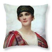 Cyrene Throw Pillow by William Clark Wontner