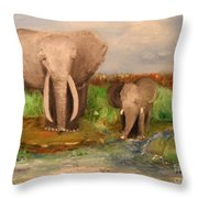 Daddy's Boy Throw Pillow by Laurie D Lundquist