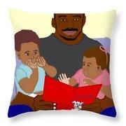 Daddy's Bundles Throw Pillow by Pharris Art