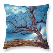 Daddy's Tree Throw Pillow by Meaghan Troup