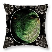 Daemon Of Stargate Throw Pillow by Pepita Selles
