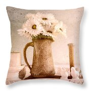 Daisies Throw Pillow by Betty LaRue