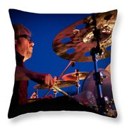 Dale Keeney of the Fabulous Kingpins Throw Pillow by David Patterson