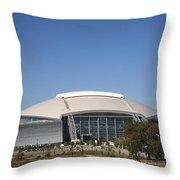 Dallas Cowboys Stadium Throw Pillow by Frank Romeo