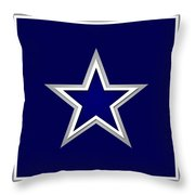 Dallas Cowboys Throw Pillow by Tony Rubino