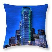 Dallas Skyline HD Throw Pillow by Jonathan Davison