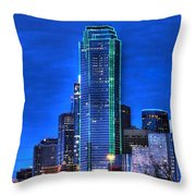 Dallas Skyline Hd Throw Pillow by Jonathan Davison