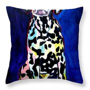 Dalmatian - Polka Dots Throw Pillow by Alicia VanNoy Call