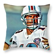Dan Marino Throw Pillow by Florian Rodarte