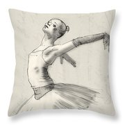 Dance Throw Pillow by H James Hoff