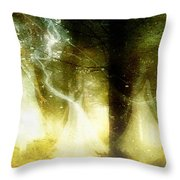 Dance of the fairies Throw Pillow by Gun Legler