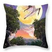 Dance of the Moon Fairy Throw Pillow by Garry Walton