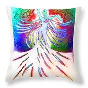 Dancer 4 Throw Pillow by Anita Lewis