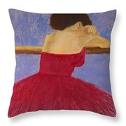 Dancer In The Red Dress Throw Pillow by David Patterson
