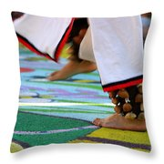 Dancing Feet Throw Pillow by Henrik Lehnerer