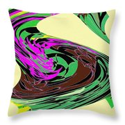 Dancing Goose 2 Throw Pillow by Will Borden