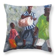 Dancing In The Street Eleuthera Throw Pillow by Susan Richardson