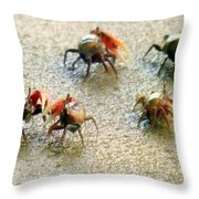Dancing Of The Fiddlers Throw Pillow by Karen Wiles